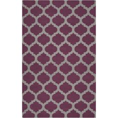 "Chatham   Gray, Raspberry Wine  3'6"" x 5'6""  wool  www.colonyrug.com"