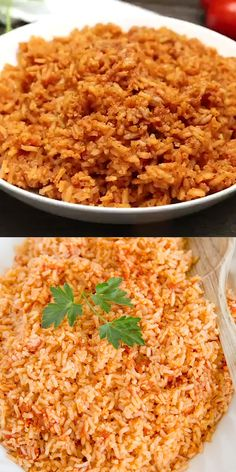 Learn how to make easy Authentic Mexican Rice! It's a simple recipe with just a few ingredients. Serve with Mexican dishes like tacos, burritos and more. Taco Side Dishes, Mexican Side Dishes, Mexican Rice Recipes, Side Dishes For Chicken, Rice Recipes For Dinner, Best Side Dishes, Healthy Side Dishes, Side Dish Recipes, Food Dishes