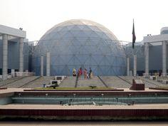 Beautiful Bangladesh: The planetarium at the Bangabandhu Sheikh Mujibur Rahman Novo Theatre in Dhaka, Bangladesh, opened in Gypsum Decoration, Gypsum Wall, Dhaka Bangladesh, Ceiling Rose, Theatre, Louvre, Building, Travel, Beautiful