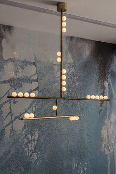 DS.15.01 15-bulb Drop System Chandelier | Lindsey Adelman Studio Modern Lighting Design, Lighting Concepts, Lindsay Adelman, Lafayette Street, All Of The Lights, Wall Lights, Ceiling Lights, H & M Home, Farmhouse Chic