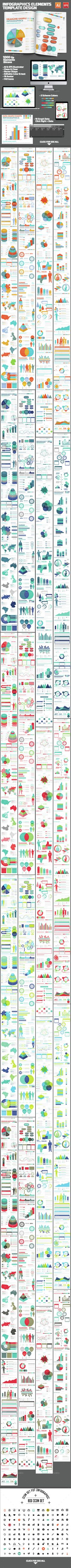Infographics Elements Design Template Vector EPS, AI. Download here: http://graphicriver.net/item/infographics-elements-template-design/15418936?ref=ksioks