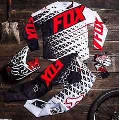 Dirt bike gear... I like this a lot! :) MAYBE EVEN GET CRAZY WITH MATCHING GEAR WITH MY MAN?! :0