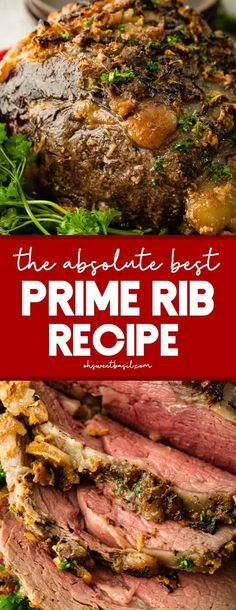 Every year I promise to share The Absolute Best Prime Rib Recipe and every year I forget to take pictures. This year I'm making prime rib AND sharing the recipe! thanksgiving The Absolute Best Prime Rib Rib Roast Recipe, Roast Recipes, Cooking Recipes, Game Recipes, Best Rib Steak Recipe, Oven Roasted Prime Rib Recipe, Prim Rib Recipes, Garlic Prime Rib Recipe, Dinner Recipes