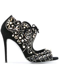 René Caovilla embellished open-toe sandals