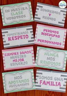 Spanish classroom poster set. Display positive expectations and promote classroom community.