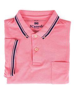 Camisa Polo de Algodão com Listras RI0073 - 940 - JCanedo Moda Masculina