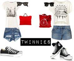 """Twinnies"" by ekreschey64 ❤ liked on Polyvore"