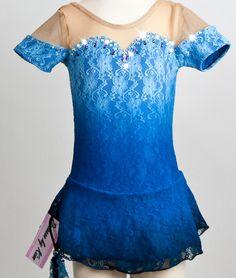 cutsey blue figure skating dress