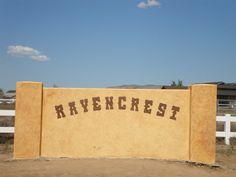 Ravencrest entrance after we finished