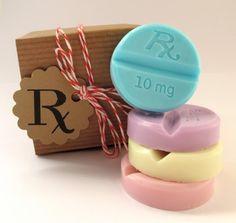SOAP. Pastel Chill Pills. Cabernet Grape. Vegan Glycerin - I LOVE this gift idea! SO CUTE!