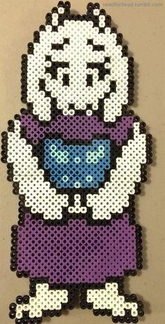 Undertale: Toriel  Undertale is owned by Toby Fox.  Buy Undertale here.  More Undertale perler bead designs here.