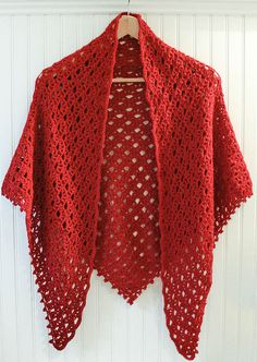 Crochet Pattern Lace Shawl with Beaded Edging by petalstopicots