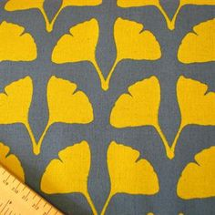 Gingko Leaf Blue Yellow