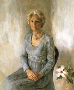 First Lady Pat Nixon - Wyeth Hurd painted the official White House portrait of U. First Lady Pat in 1978 Presidents Wives, American Presidents, American History, American Pie, First Lady Of America, Us First Lady, Louise Bourgeois, First Lady Portraits, Family Portraits