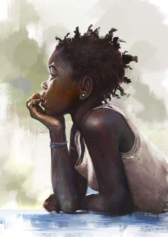 Pin by *lois o* on *the arts* art, black women art, african american art. Black Girl Art, Black Women Art, Art Girl, African American Art, African Art, African Women, African Prints, Natural Hair Art, Natural Hair Styles