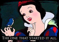 De eerste prinses. Sneeuwwitje, na alles wat ze moest doorstaan kreeg ze ook haar happy ending