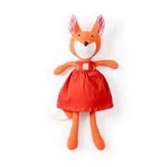 e52ecd9e0d2 Hazel Village Organic Flora Fox Doll in Red Dress