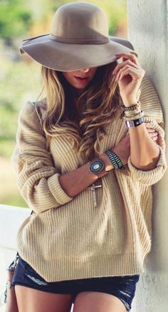 Choies Sand Oversize Knit Open Back Lace Up Jumper by Decor e Salto Alto
