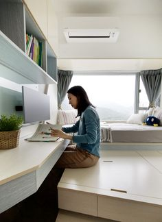 Smart Zendo: A Hong Kong Apartment with Clever Storage + Smart Tech - Design Milk
