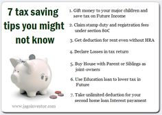 7 Income Tax saving tips you might not know Stamp Duty, Tax Lawyer, Accounting Services, Deduction, Income Tax, Saving Tips, Home Buying, Freedom, Fun Facts