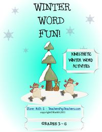 Winter Word Fun, free, pdf, winter activities, teacherspayteachers.com, Ruth S.