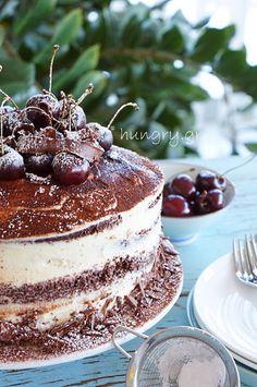 Kitchen Stories: Black Forest Cake Black Forest Cake, Kitchen Stories, Tiramisu, A Food, Ethnic Recipes, Cherry Cake, Festive, Heaven, Christmas