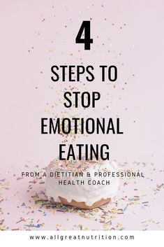 Are you an emotional eater? I'm sharing my science-backed steps to stop emotional eating. Learn how to start practicing intuitive eating, mindfulness, and other behavior change tips to break the emotional eating cycle. Plus a FREE guide to help! #emotionaleatingrecovery #nutritiontips #selfcare