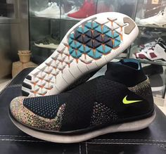 e747034a2f2 Nike Free RN Motion Flyknit 2 Multicolor Athletic Trends