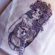 Sketch for Kylie Alien Tattoo, Tattoos Skull, Dope Tattoos, Head Tattoos, Badass Tattoos, Body Art Tattoos, Tatoos, Art Drawings Sketches, Tattoo Sketches