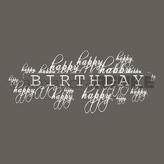 Typostempel 'Happy Birthday', Alexandra Renke
