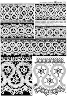 "Photo from album ""Дуплет on Yandex. Crochet Borders, Crochet Diagram, Crochet Chart, Crochet Squares, Filet Crochet, Irish Crochet, Crochet Motif, Crochet Doilies, Crochet Lace"