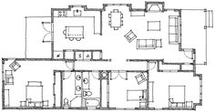 Old-Fashioned Farmhouse Floor Plans | Specifications are subject to change without notice.