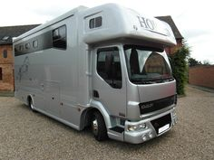 This 2006 #DAF LF 45-150 #horsebox carries up to three horses | For #sale on #HorseDeals