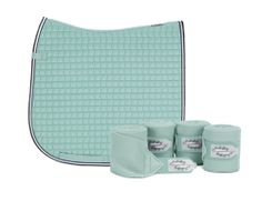 Eskadron Limited Edition Dressage Saddlecloth & Fleece Bandages Set - Ice Blue   eBay