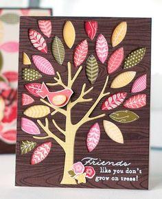 Mighty Oak Friend Card by Betsy Veldman for Papertrey Ink (August 2013)