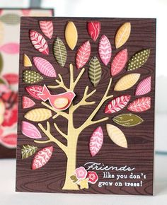 Mighty Oak Friend Card by Betsy Veldman for Papertrey Ink (August 2013)