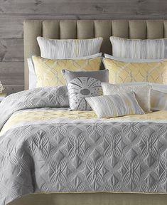 Grey and Yellow bedding from Macy's.