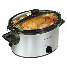 Hamilton Beach Slow Cooker - Black/Silver (4 quart).Opens in a new window