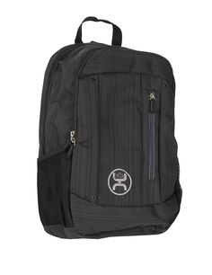 HOOey Logic Textured Black Backpack  94205c7c909a5