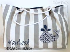 Nautical Beach Bag Tutorial