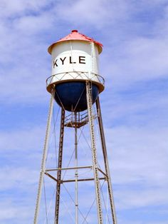 The Kyle Water Tower. Probably the most iconic thing in Kyle. It can be seen from IH-35 as people head through town (on their way to Austin / San Antonio)  Fun fact. it's actually full of dirt... not a functioning water tower.