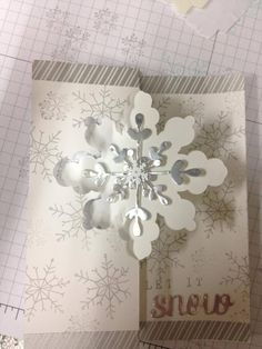 Snowflake Card Thinlit from the upcoming Holiday Catalog 2014 #stampinup. Can use Letterpress Winter with this thinlit die: