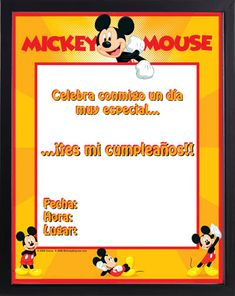 tarjetas mickey mouse para imprimir gratis Mickey Mouse Art, Disney Inspired, Snoopy, Invitations, Paper, Mini, Fictional Characters, Inspiration, Mickey Party