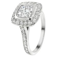 #Cushion Cut- Diamond Ring    Buy Now ! repin .. like .. share :)    $705.00  http://amzn.to/VHgk7r