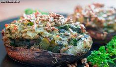 Faszerowane pieczarki portobello pieczone w ziołach