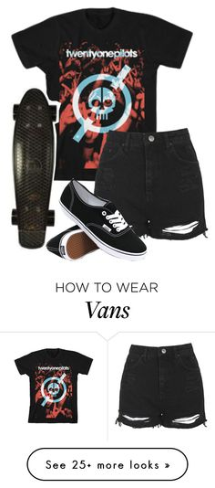 """""""I love pennyboarding at night....is that weird?"""" by bands-are-my-savior on Polyvore featuring Topshop, Retrò and Vans"""