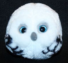 Ty Beanie Ballz HOOTS the WHITE OWL 5