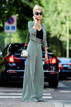 Уличная мода: Уличный стиль недели моды в Милане сезона весна-лето 2017