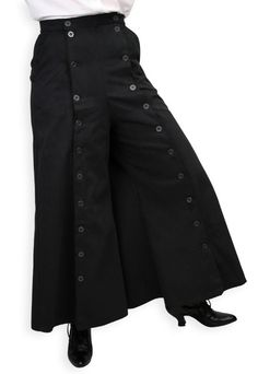 Convertible riding skirt/pants, steampunk!  Folkwear sells a pattern like this for avid period craftswomen.