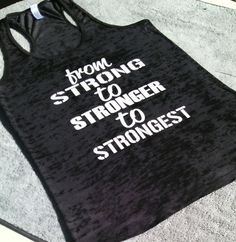 Gain your strength little by little. What a wonderful workout tank to give you a little inspiration at the gym.   Please view sizing chat and convo